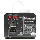 Beamz S700-LED Nebelmaschine mit Flammeneffekt, Leistung 700W, 250-ml-Tank, Durchfluss des Nebels 7m³/min, Fernbedienung mit 3m Kabel und Wand- und Deckenhalterung, 3Minuten Aufwärmzeit, schwarz - 3