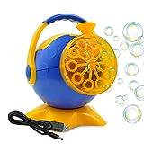 Termichy Seifenblasen-Maschine, Tragbare Seifenblasenmaschine Kinder, Bubble machine für Geburtstagsfeier und Hochzeit, Bubble Blower Maker(Weihnachtsgeschenk für Kinder) (Blau)