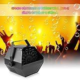Lixada Tragbare 0.8L Seifenblasenmaschine/Hohe Leistung Automatische Bubbles Maker, Controller: Drahtlose Fernbedienung/Manuelle Steuerung, Einzelteil Größe: 23 * 23 * 23cm. - 2