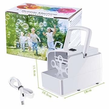GEEDIAR Seifenblasenmaschine Tragbare, Leichte Automatischer Seifenblasen Maschine Angetrieben von Batterie oder USB für Hochzeit, Geburtstagsfeier, Festival - 4