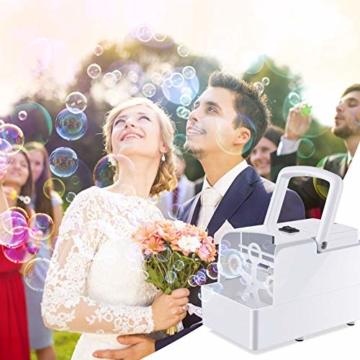 GEEDIAR Seifenblasenmaschine Tragbare, Leichte Automatischer Seifenblasen Maschine Angetrieben von Batterie oder USB für Hochzeit, Geburtstagsfeier, Festival - 5