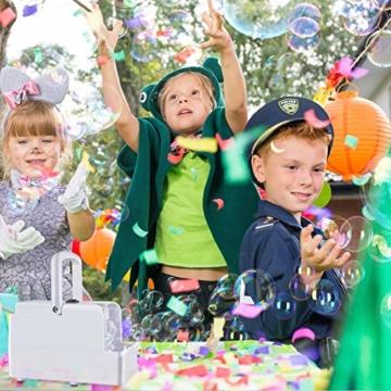 GEEDIAR Seifenblasenmaschine Tragbare, Leichte Automatischer Seifenblasen Maschine Angetrieben von Batterie oder USB für Hochzeit, Geburtstagsfeier, Festival - 6