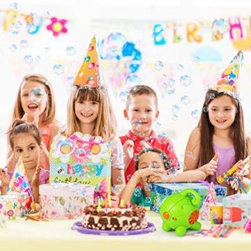 SGILE Seifenblasenmaschine mit Flüssigkeit für Kinder Mädchen Jungen, Tragbare Süße Blase Maschine Bubble Machine Bubble Maker für Party, Badezeit,Hochzeit, Geburtstag, Indoor, Outdoor Geschenk - 6